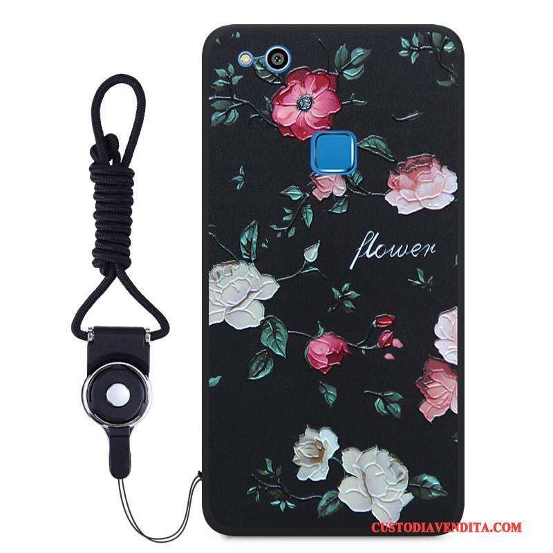Custodia Huawei P10 Lite Cartone Animato Nero Morbido, Cover Huawei P10 Lite Colore Colore Gioventù