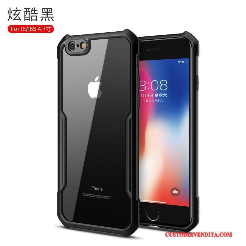 Custodia iPhone 6/6s Plus Creativo Tutto Incluso Di Personalità, Cover iPhone 6/6s Plus Silicone Trasparente Nero
