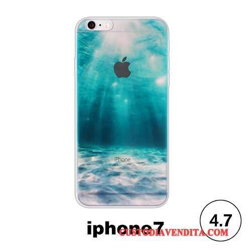 Custodia Iphone 7 Creativo Morbido Verde Cover Iphone 7