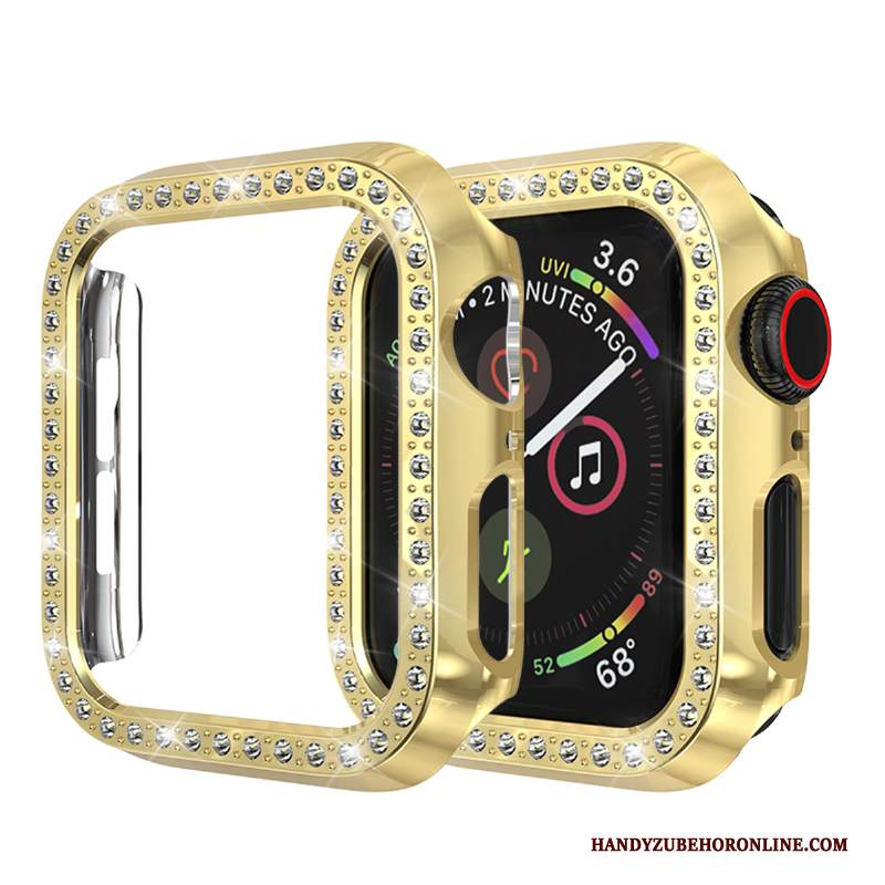 Custodia Apple Watch Series 2 Protezione Con Strass Oro, Cover Apple Watch Series 2 Anti-caduta