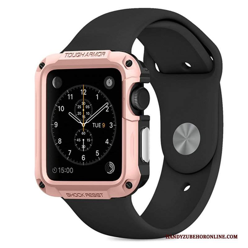 Custodia Apple Watch Series 2 Protezione Oro Rosa Sportivo, Cover Apple Watch Series 2 All'aperto
