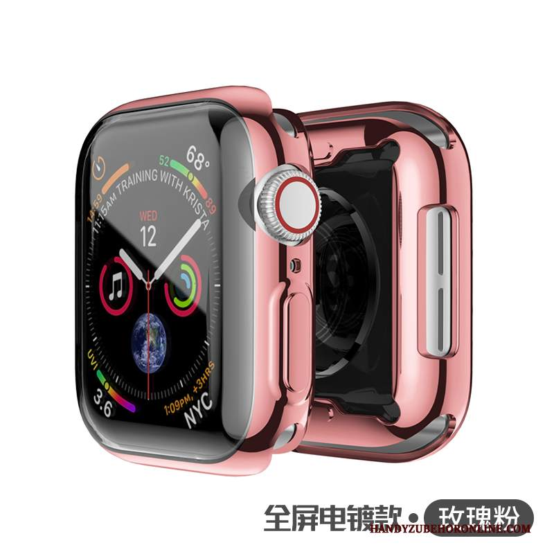 Custodia Apple Watch Series 2 Protezione Rosa Placcatura, Cover Apple Watch Series 2 Trasparente Metallo