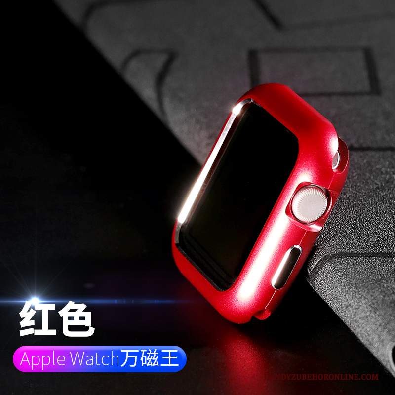 Custodia Apple Watch Series 2 Protezione Telaio Placcatura, Cover Apple Watch Series 2 Rosso Tutto Incluso