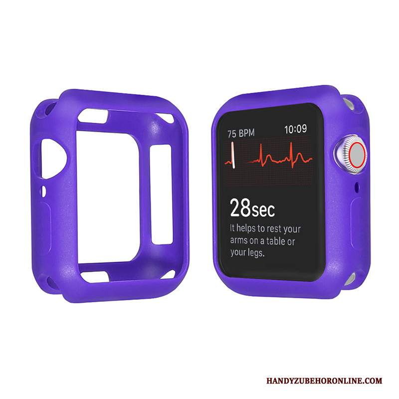 Custodia Apple Watch Series 2 Silicone Caramella Morbido, Cover Apple Watch Series 2 Protezione Sottile Porpora