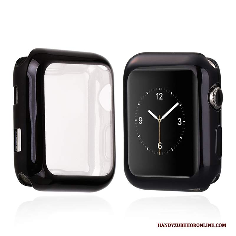 Custodia Apple Watch Series 2 Silicone Nero Morbido, Cover Apple Watch Series 2 Protezione Sottili Tutto Incluso