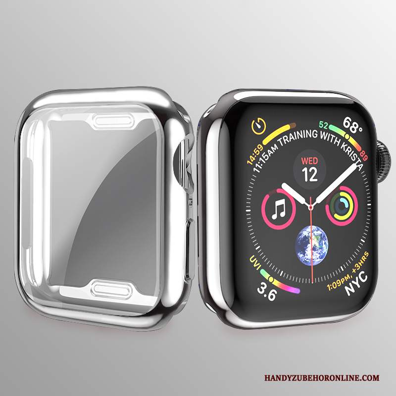 Custodia Apple Watch Series 2 Silicone Placcatura Argento, Cover Apple Watch Series 2 Protezione Morbido Sottile