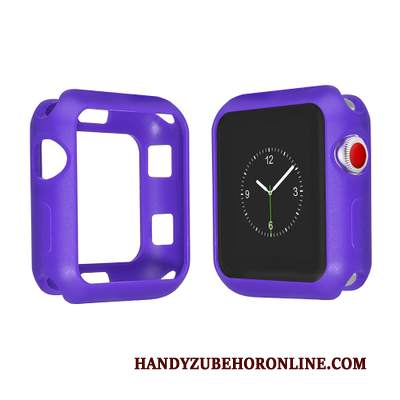 Custodia Apple Watch Series 2 Silicone Tutto Incluso Morbido, Cover Apple Watch Series 2 Colore Anti-caduta Porpora