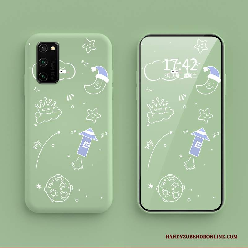 Custodia Honor 30 Pro Cartone Animato Di Personalità Tutto Incluso, Cover Honor 30 Pro Silicone Verdetelefono