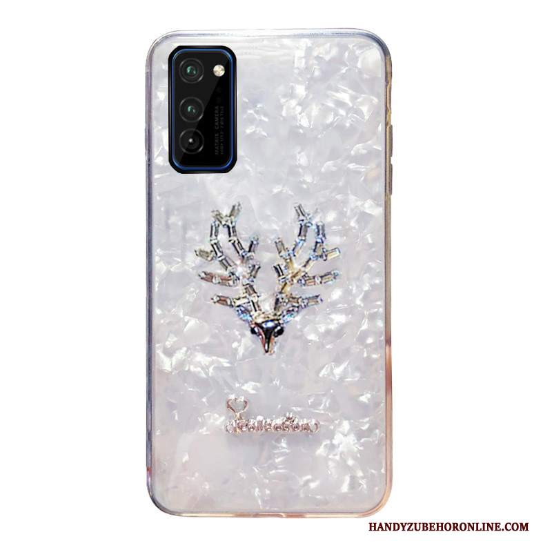 Custodia Honor View30 Pro Creativo Tendenzatelefono, Cover Honor View30 Pro Strass Bianco Colorato