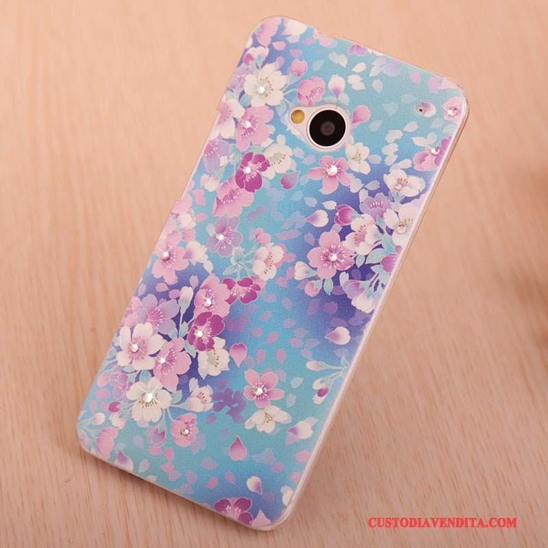 Custodia Htc One M7 Colore Blutelefono, Cover Htc One M7 Strass