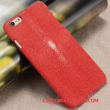 Custodia Htc One M7 Pelle Rosso High End, Cover Htc One M7 Protezione Perline Anti-caduta
