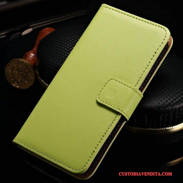 Custodia Htc One M8 Pelle Verdetelefono, Cover Htc One M8 Protezione