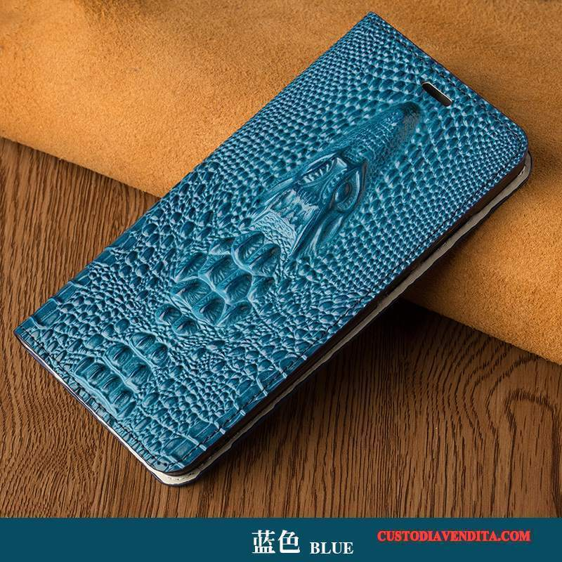 Custodia Htc U Ultra Folio Blu Lusso, Cover Htc U Ultra Pelle Pavone Personalizza