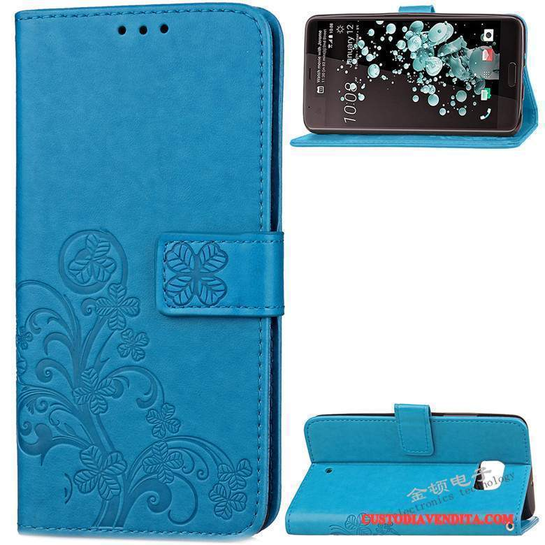 Custodia Htc U Ultra Pelle Anti-caduta Blu, Cover Htc U Ultra Silicone Telefono Morbido