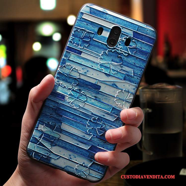 Custodia Huawei Mate 10 Creativo Morbido Tendenza, Cover Huawei Mate 10 Silicone Blu Tutto Incluso