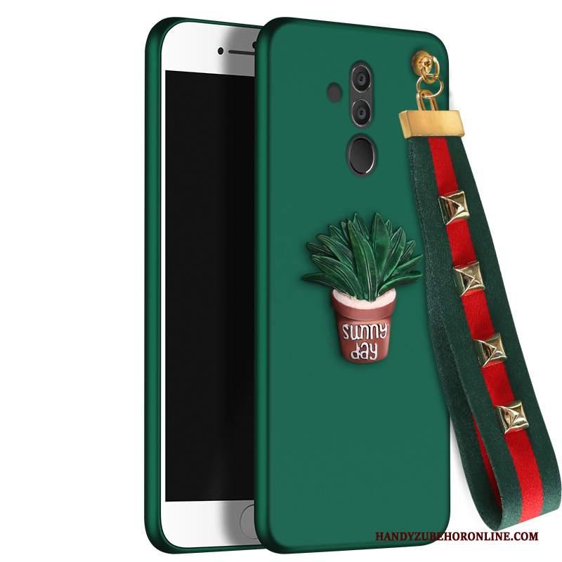 rivenditore all'ingrosso af322 8cd7a Custodia Huawei Mate 20 Lite Silicone Telefono Tendenza, Cover Huawei Mate  20 Lite Protezione Anti-caduta Verde
