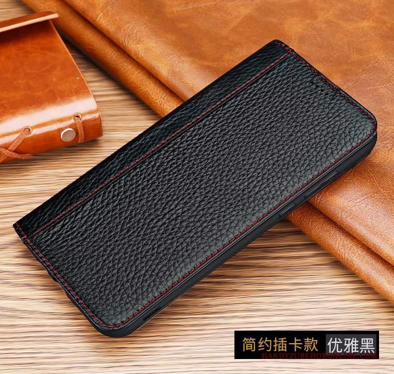 Custodia Huawei Mate 30 Pro Folio Telefono Top In Pelle, Cover Huawei Mate 30 Pro Pelle Litchi Carta