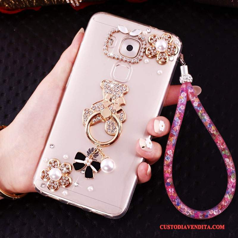 Custodia Huawei Mate 8 Creativo Oro Ring, Cover Huawei Mate 8 Strass Telefono