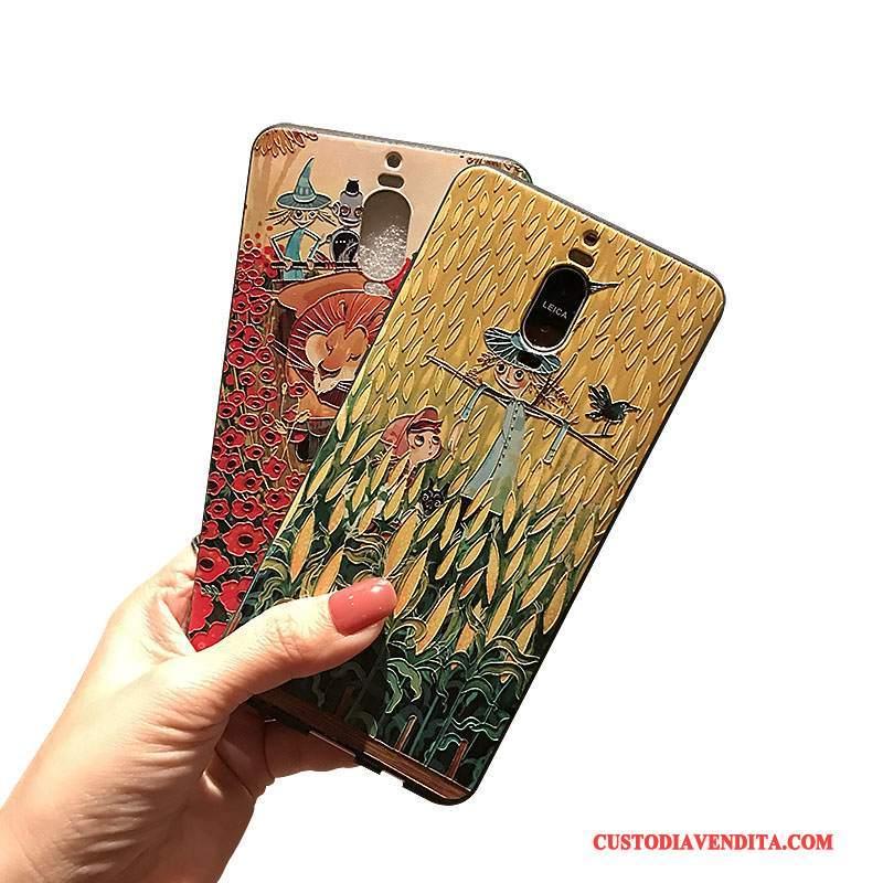 Custodia Huawei Mate 8 Goffratura Morbidotelefono, Cover Huawei Mate 8 Macchiati Nero