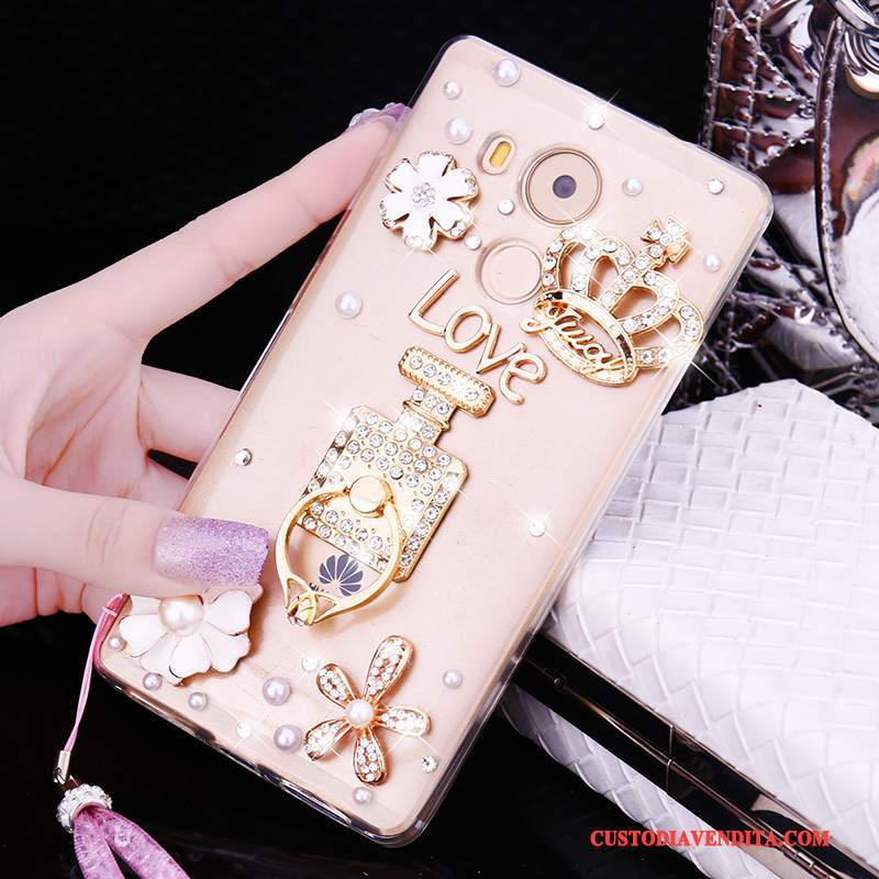 Custodia Huawei Mate 8 Silicone Tendenza Morbido, Cover Huawei Mate 8 Strass Anti-cadutatelefono