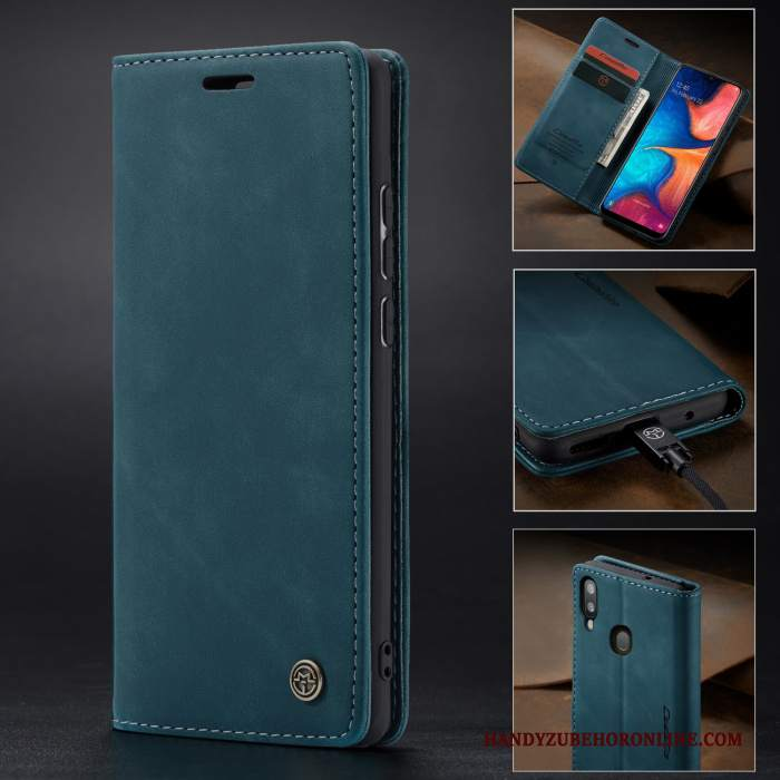 Custodia Huawei P Smart+ 2019 Pelle Telefono Blu, Cover Huawei P Smart+ 2019 Protezione Tutto Incluso