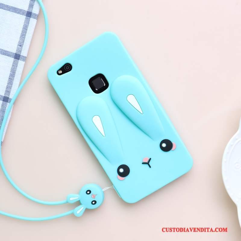 Custodia Huawei P10 Lite Cartone Animato Gioventù Blu, Cover Huawei P10 Lite Silicone Morbido Tutto Incluso