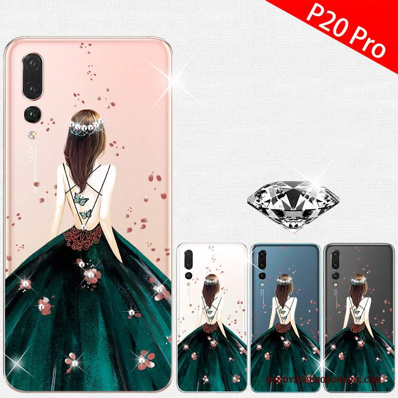 Custodia Huawei P20 Pro Silicone Tutto Incluso Verde, Cover Huawei P20 Pro Creativo Telefono High End