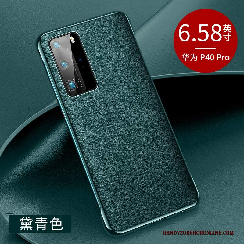 Custodia Huawei P40 Pro Pelle Tendenza High End, Cover Huawei P40 Pro Protezione Nuovo Verde