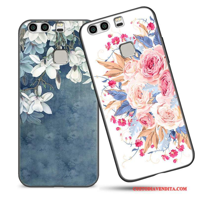 Custodia Huawei P9 Plus Creativo Blu Bello, Cover Huawei P9 Plus Silicone Tutto Incluso Tendenza