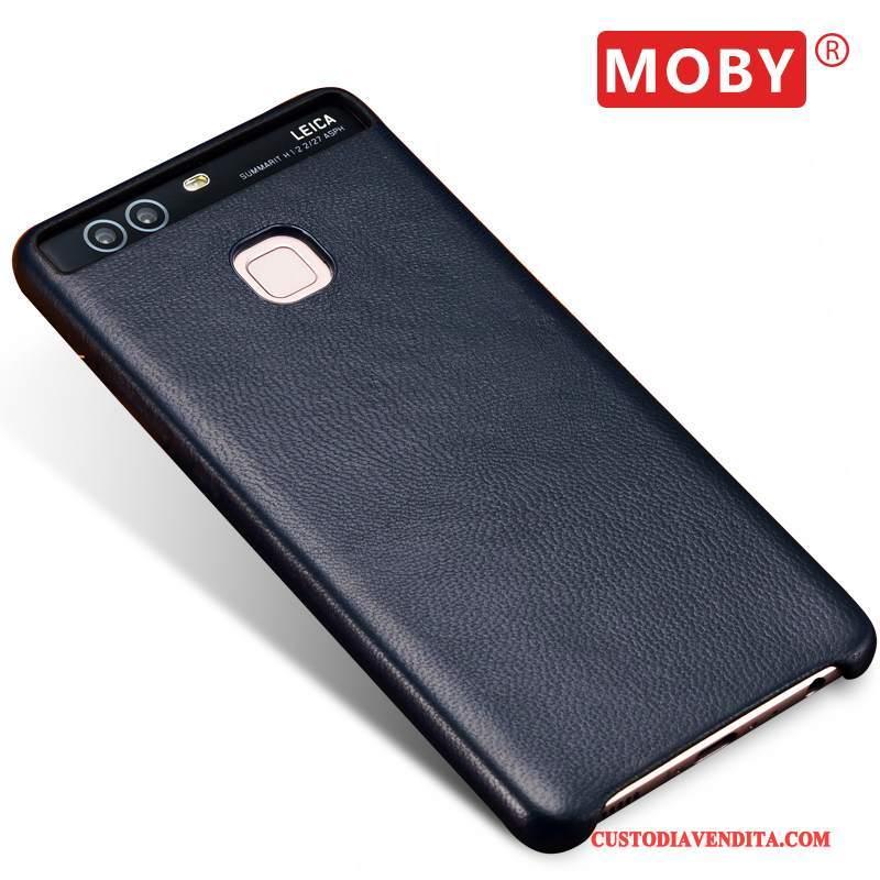 Custodia Huawei P9 Plus Pelle Affaritelefono, Cover Huawei P9 Plus Protezione Verde Sottili