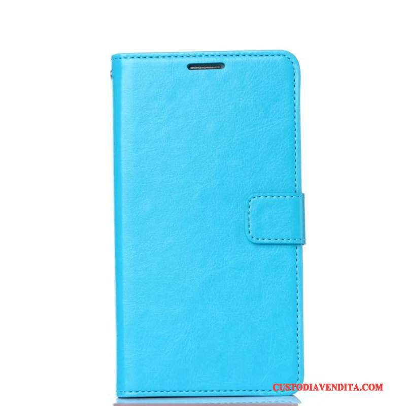 Custodia Mi A1 Pelle Anti-cadutatelefono, Cover Mi A1 Folio Piccola Blu