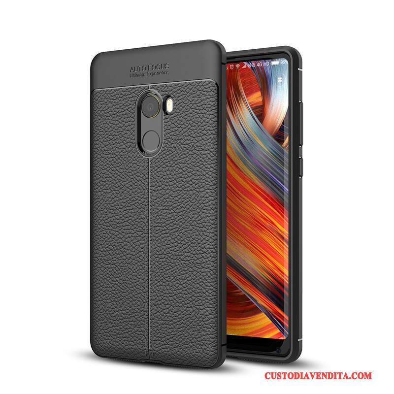 Custodia Mi Mix 2 Creativo Di Personalità Nero, Cover Mi Mix 2 Silicone Piccolatelefono