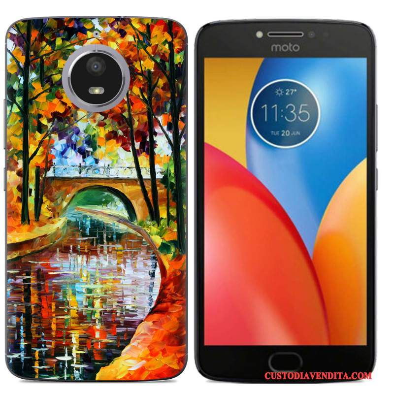 Custodia Moto E4 Plus Creativo Morbidotelefono, Cover Moto E4 Plus Colore