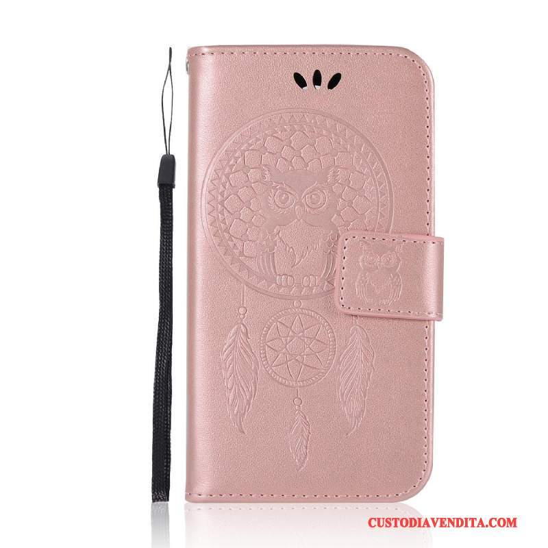 Custodia Moto G4 Play Pelle Gattino Rosa, Cover Moto G4 Play Vento Maglia