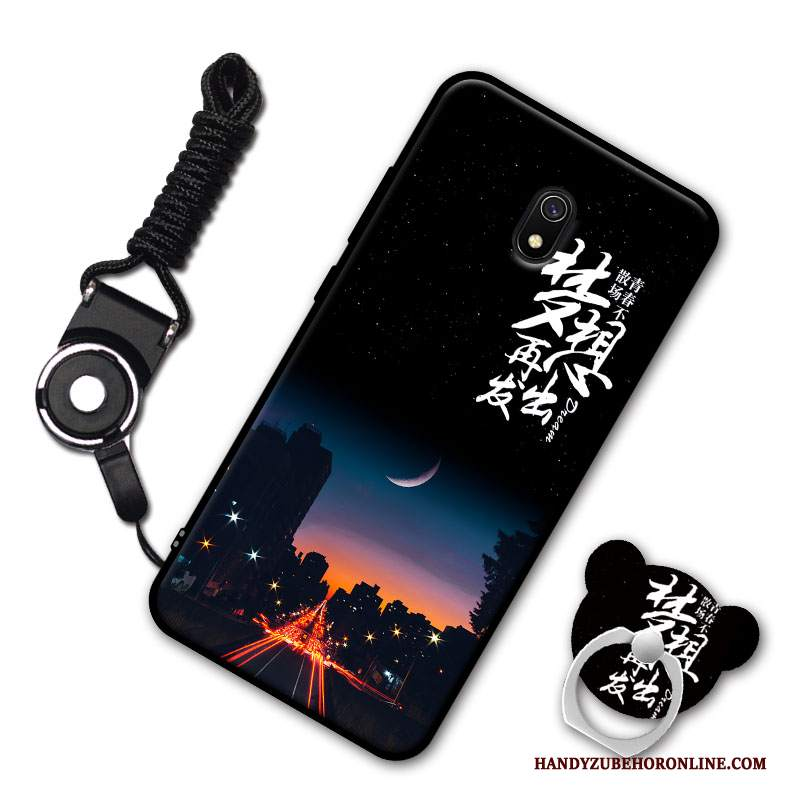 Custodia Redmi 8a Creativo Piccola Ornamenti Appesi, Cover Redmi 8a Moda Morbido Nero