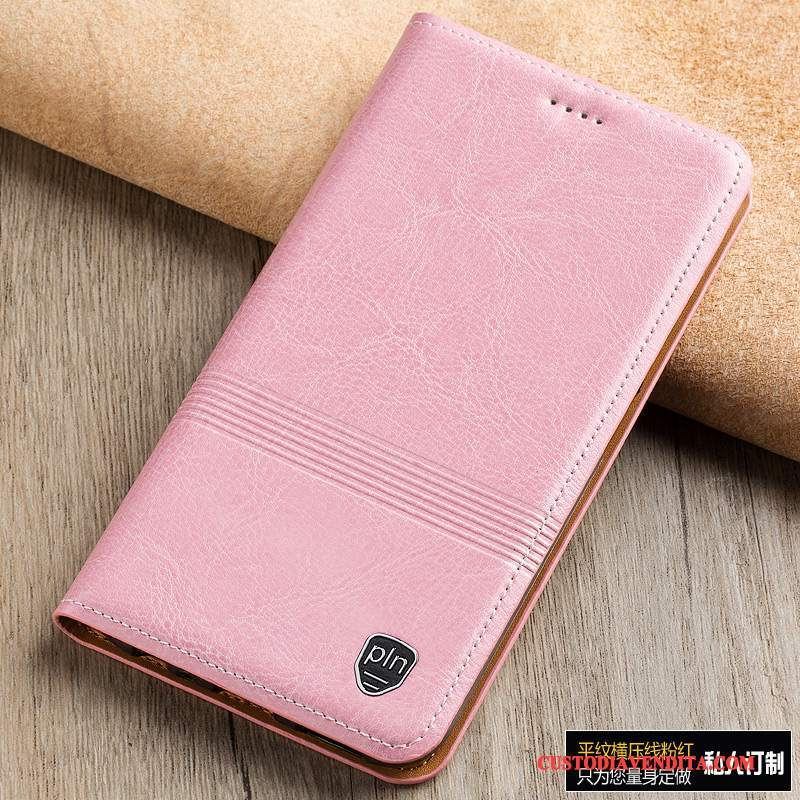 Custodia Redmi Note 4x Pelle Telefono Rosso, Cover Redmi Note 4x Folio Rosa