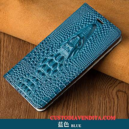 Custodia Redmi Note 5 Pelle Di Personalità Blu Scuro, Cover Redmi Note 5 Protezione Affari Difficile