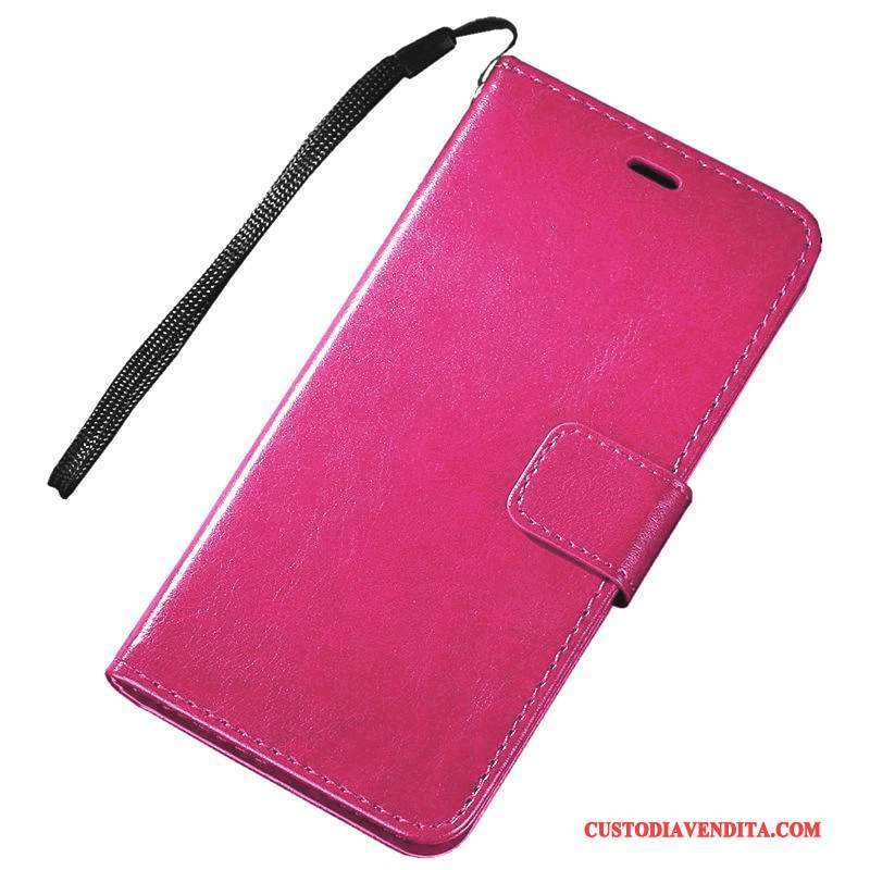 Custodia Redmi Note 5a Folio Piccola Rosso, Cover Redmi Note 5a Pelle Supportotelefono