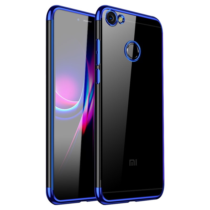Custodia Redmi Note 5a Silicone Piccola Blu, Cover Redmi Note 5a Morbido Alto