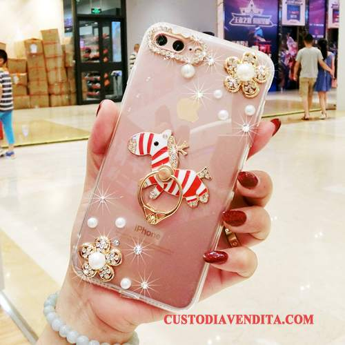 Custodia Samsung Galaxy A5 2016 Silicone Rosa Tutto Incluso, Cover Samsung Galaxy A5 2016 Ring Ornamenti Appesi