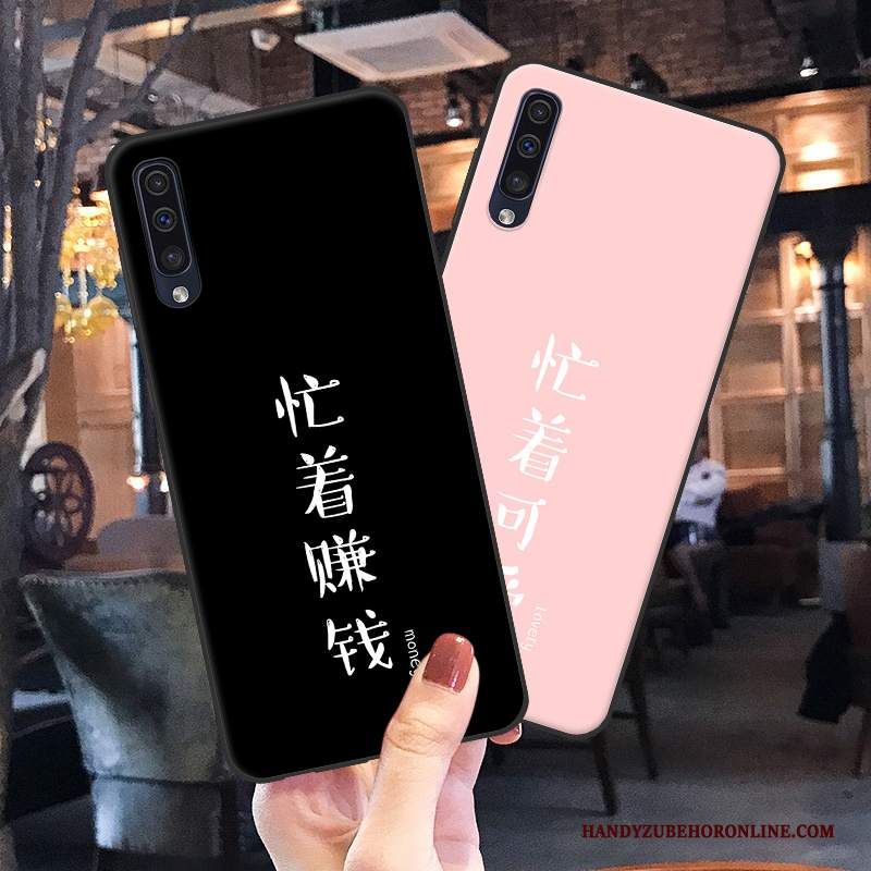 Custodia Samsung Galaxy A50 Silicone Nero Tutto Incluso, Cover Samsung Galaxy A50 Creativo Telefono Anti-caduta