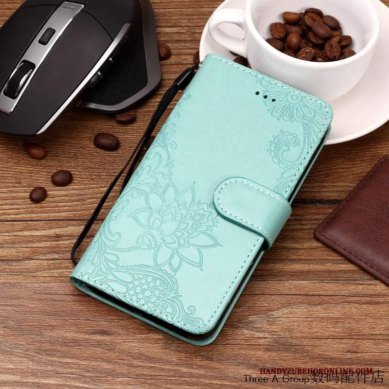 Custodia Samsung Galaxy A9 2018 Pelle Verde Tutto Incluso, Cover Samsung Galaxy A9 2018 Folio Telefono Anti-caduta