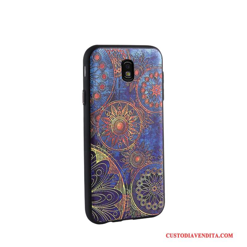 Custodia Samsung Galaxy J7 2017 Cartone Animato Morbido Affari, Cover Samsung Galaxy J7 2017 Goffratura Telefono Tendenza