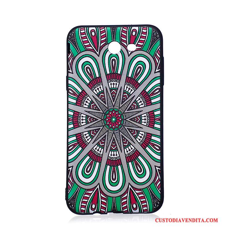 Custodia Samsung Galaxy J7 2017 Goffratura Tendenza Morbido, Cover Samsung Galaxy J7 2017 Colore Telefono