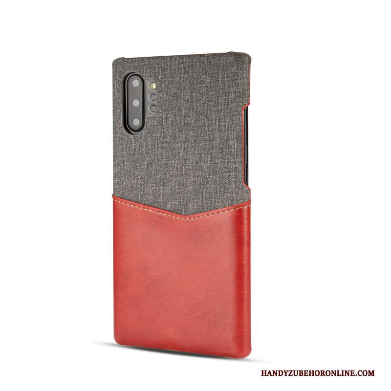 Custodia Samsung Galaxy Note 10+ Carta Rosso, Cover Samsung Galaxy Note 10+ Telefono Anti-caduta