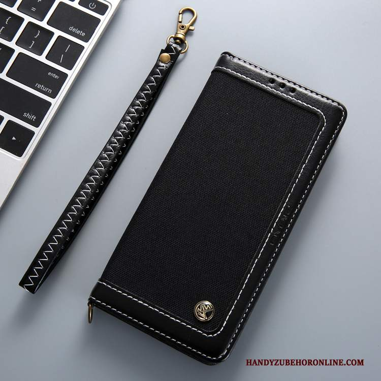 Custodia Samsung Galaxy Note 10 Pelle Telefono Colori Misti, Cover Samsung Galaxy Note 10 Folio Ornamenti Appesi Nero