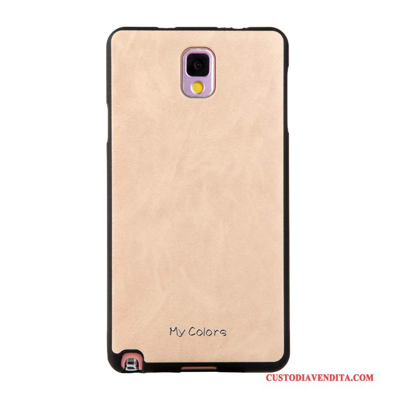 Custodia Samsung Galaxy Note 3 Pelle Morbido Affari, Cover Samsung Galaxy Note 3 Protezione Telefono Cachi