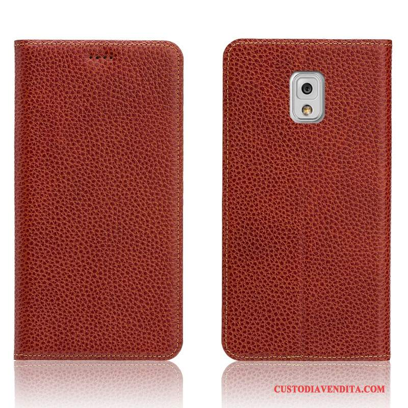 Custodia Samsung Galaxy Note 3 Protezione Litchitelefono, Cover Samsung Galaxy Note 3 Pelle