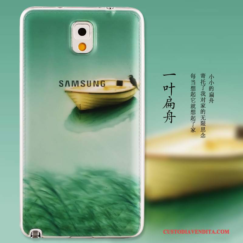 Custodia Samsung Galaxy Note 3 Silicone Verdetelefono, Cover Samsung Galaxy Note 3