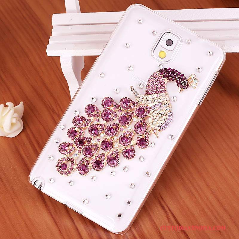 Custodia Samsung Galaxy Note 3 Strass Porporatelefono, Cover Samsung Galaxy Note 3 Protezione